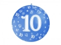 BALON 10th BIRTHDAY MIX 100cm 1szt