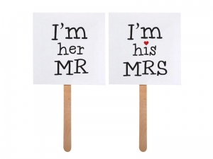 KARTECZKI DO FOTOBUDKI IM HIS MRS IM HER MR