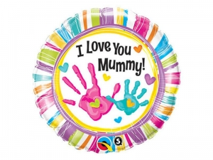 BALON I LOVE YOU MUMMY 18'' 46cm