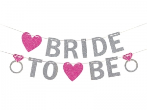 BANER BRIDE TO BE SREBRNY 3.65m