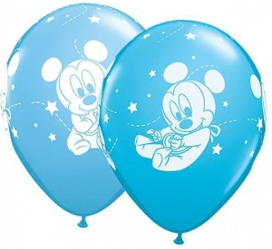 BALON BABY MICKEY MIX 27cm 1szt